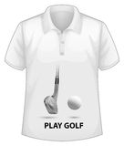 Shirt with screen. Shirt with a screen of golf in front Royalty Free Stock Photos