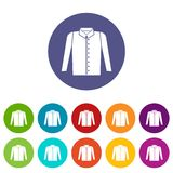 Shirt set icons Stock Photo