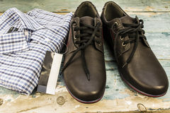 shirt  and shoes Stock Images