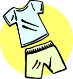 Shirt and shorts vector illustration Royalty Free Stock Image