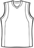 Shirt Sleeveless. Clothing line art - black and white Royalty Free Stock Photography