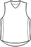 Shirt Sleeveless. Clothing line art - black and white Stock Images