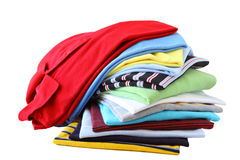 Shirt Stack Royalty Free Stock Photography