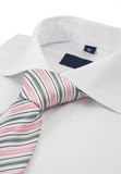 Shirt with a striped necktie Royalty Free Stock Photography