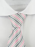 Shirt with a striped necktie background Stock Photos