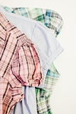 Shirt styles. A fashion inspired still-life Royalty Free Stock Photo