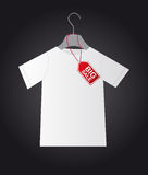 Shirt with tag Stock Photography
