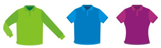 Shirt template. Template of a shirt for image drawing Stock Images