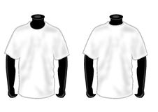 Shirt template on mannequin. Man mannequin with white t shirt Stock Photo
