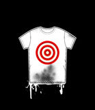 Shirt template with target Stock Photography