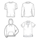 Shirt templates Stock Photo