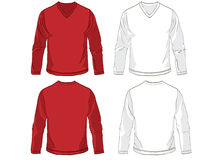 Shirt templates Stock Images