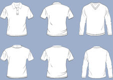Shirt templates royalty free stock photography