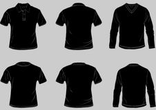 Shirt templates. With front and back in separate easily editable layers vector illustration