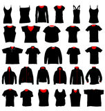 Shirt templates collection Stock Images