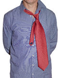 Shirt and tie. Portrait of messy man with shirt and tie Stock Image