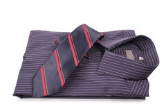Shirt with  tie. Isolated on white-2 Stock Image