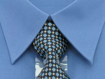 Shirt & Tie. Close up of a brand new blue shirt and tie Royalty Free Stock Photo