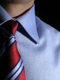 Shirt and tie. Closeup of shirt and tie, low key shot stock images