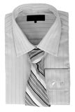 Shirt with tie. Isolated on white Stock Photo