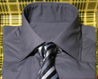 Shirt and tie. Button down shirt and tie in a gift box Stock Image