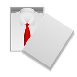 Shirt and tie in box Stock Photo