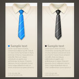 Shirt and tie business card. Shirt and tie vector vertical business card Royalty Free Stock Image