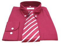 Shirt and tie with clipping path. Red shirt & necktie Stock Image