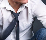 Shirt & Tie detail Royalty Free Stock Image