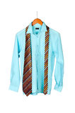 Shirt and tie on hanger Royalty Free Stock Image
