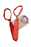 Shirt and tie isolated. On the white background Stock Image