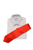 Shirt and tie isolated. On the white background Stock Photos