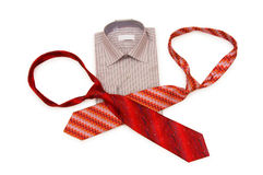 Shirt and tie isolated. On the white background Royalty Free Stock Image