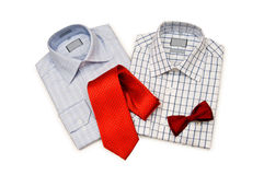 Shirt and tie isolated. On the white background Royalty Free Stock Photography