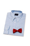 Shirt and tie isolated. On the white background Royalty Free Stock Photos