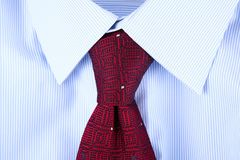 Shirt and tie masculine background. Shirt and tie masculine fashion background Stock Photo