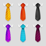 Shirt and tie realistic icons set bacground 3d design vector illustration Stock Photo
