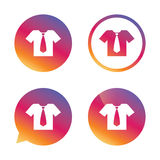 Shirt with tie sign icon. Clothes symbol. Stock Photos