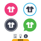 Shirt with tie sign icon. Clothes symbol. Royalty Free Stock Image