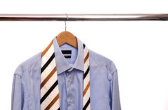 Shirt and tie on a stand Royalty Free Stock Photography
