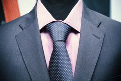 Shirt tie and suit jacket on a mannequin Royalty Free Stock Photography