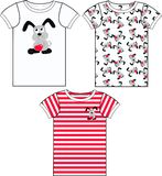 Shirtdruck für Kinder Stockbild