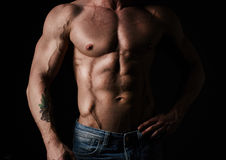 Shirtless athlete Stock Photo