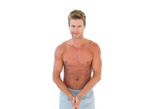 Shirtless attractive man Royalty Free Stock Image
