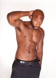 Shirtless Black Man Stock Photos