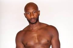 Shirtless Black Man Stock Images
