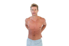 Shirtless handsome man Stock Images