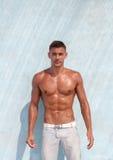 Shirtless male model stock photos