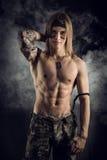 Shirtless male model wearing a bandanna Stock Photos