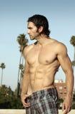 Shirtless man profile Stock Photo